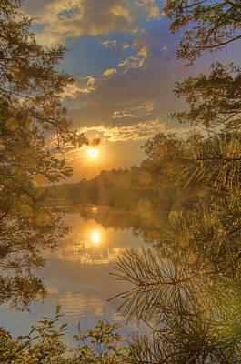 Photograph - Mirror Lake Sunset 1 by Beth Sawickie