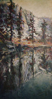 Brook Trout Image Painting - Mirror Mirror by C Michael French