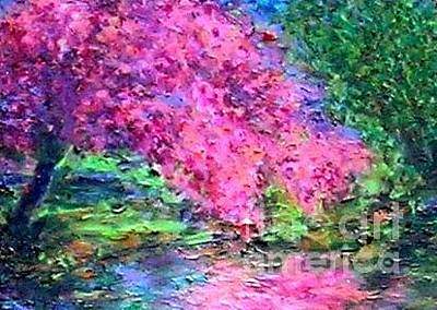 Painting - Mirror Mirror Mirror On The River Tell Me Who Is The Prettiest Tree by Marie-Line Vasseur