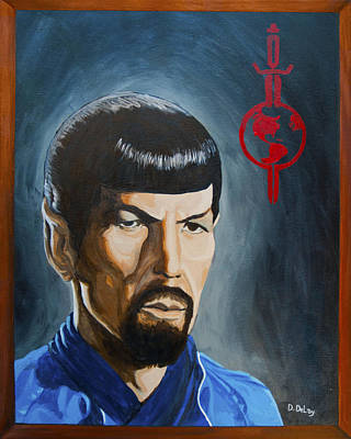 Painting - Mirror Mirror Spock by Deirdre DeLay