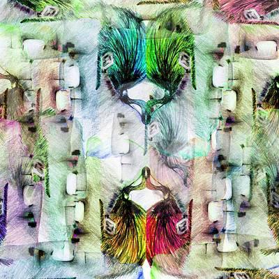 Porcupine Digital Art - Mirror by Muge Unlukoc