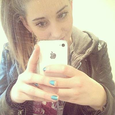 I Phone Photograph - Mirror Picture #hey #iphone #me by Emma Carpenter