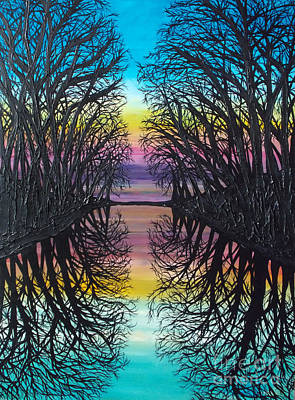 Refection Painting - Mirror Water by Tracy Levesque