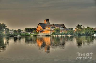 Art Print featuring the photograph Mirrored Boat House by Jim Lepard