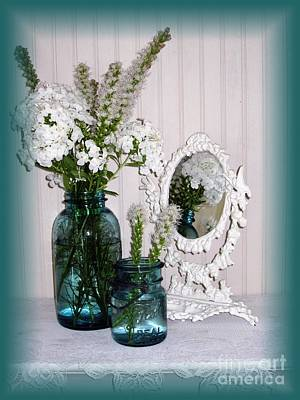 Mirrored Bouquet 2 Art Print by Margaret Newcomb
