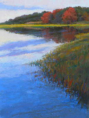 East Sandwich Painting - Mirrored Edge by Ed Chesnovitch