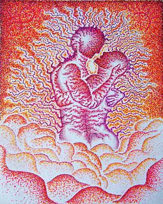 Mirrored Fervor     Art Print by Andrew Zeutzius