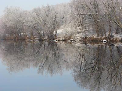 Winter Photograph - Mirrored Image by Laura Corebello