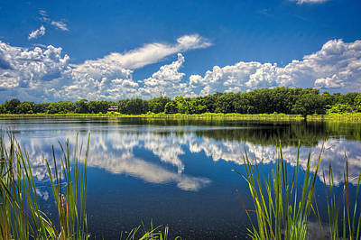 Photograph - Mirrored Lake by Lewis Mann