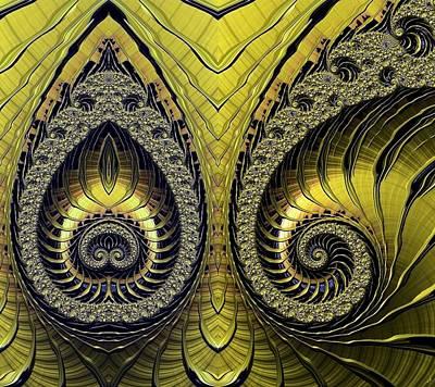 Digital Art - Mirrored by Ron Bissett