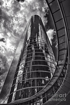 Urban Scene Photograph - Mirrored Towers In Houston by Tod and Cynthia Grubbs