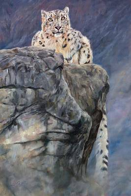 Himalayas Painting - Miruchas's Realm by David Stribbling