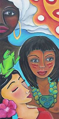 Indian Cultural Painting - Mis Raices - My Roots by Janice Aponte