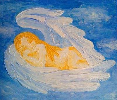 Miscarriage Painting - Miscarriage...in Heaven They Grow by Jessica Bassett