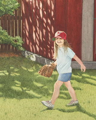 Baseball Cap Painting - Mischief by Dee Dee  Whittle