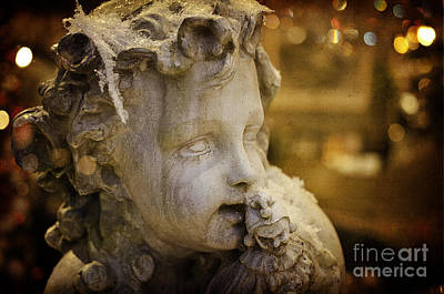 Photograph - Mischievous Cherub by Terry Rowe