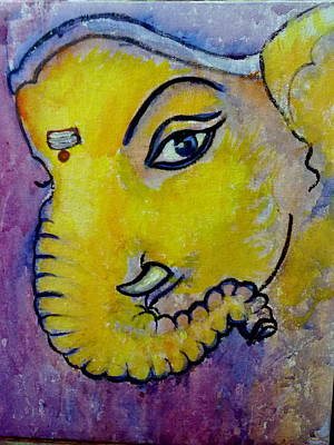 Mischievous Ganesha Art Print