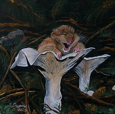 Toadstools Painting - Mischievous Molly by Sharon Duguay