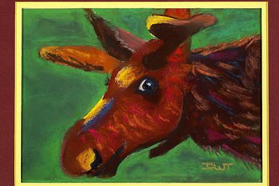 Mischievous Moose Print by Diana Tripp