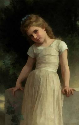 Digital Art - Mischievous One by William Bouguereau