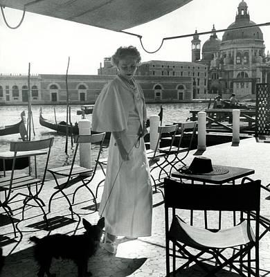 Senior Dog Photograph - Misia Sert In Venice by Horst P. Horst