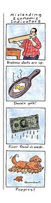 Misleading Economic Indicators Art Print by Danny Shanahan