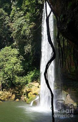 Photograph - Misol Ha Waterfall 1 by Rachel Munoz Striggow