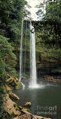 Photograph - Misol Ha Waterfall by Rachel Munoz Striggow