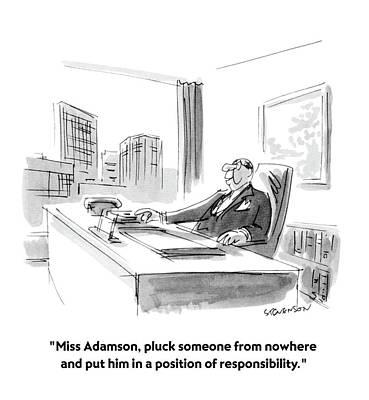 Amateurs Drawing - Miss Adamson by James Stevenson