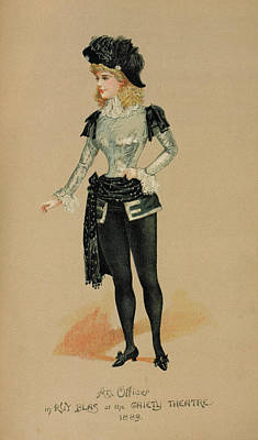 Burlesque Photograph - Miss Alice Young by British Library