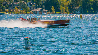 Photograph - Miss America Vii Wolfeboro Regatta by Brenda Jacobs