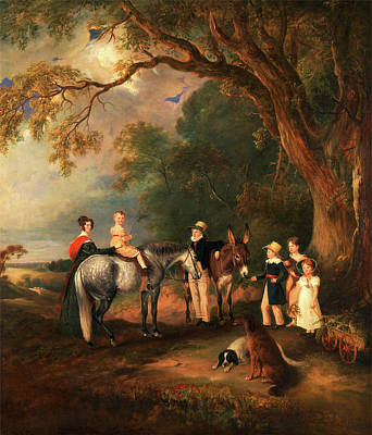 Niece Painting - Miss Catherine Herrick With Her Nieces And Nephews by Litz Collection
