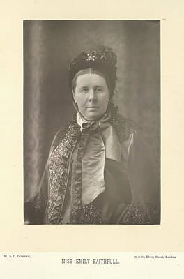 Miss Emily Faithfull Art Print by British Library