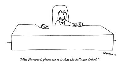 Boss Drawing - Miss Harwood by Charles Barsotti
