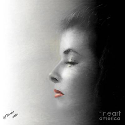 Miss Katherine Art Print by Arne Hansen