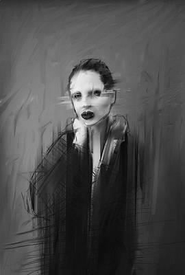 Redhead Digital Art - Miss Kim J by H James Hoff