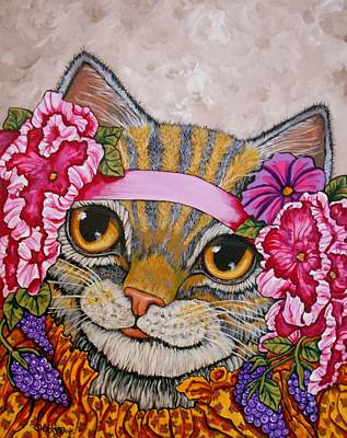 Miss Kitty Art Print by Sherry Dole