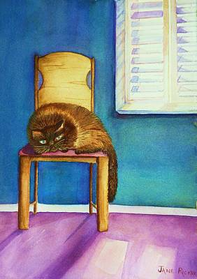 Kitty's Nap Art Print