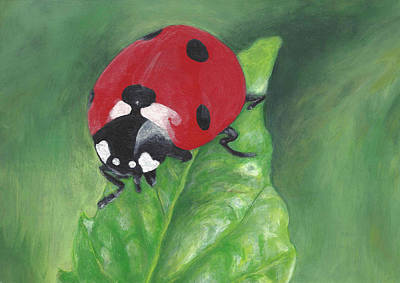 Crowd Close-up Painting - Miss Ladybug  by Monica Margarida