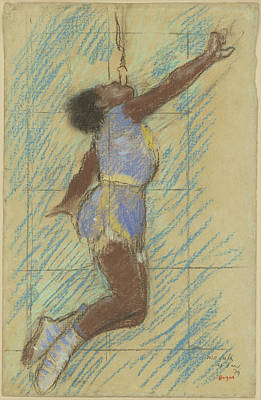 Fade Drawing - Miss Lala At The Fernando Circus Edgar Degas by Litz Collection