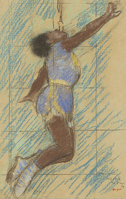 Degas Drawing - Miss Lala At The Fernando Circus by Edgar Degas