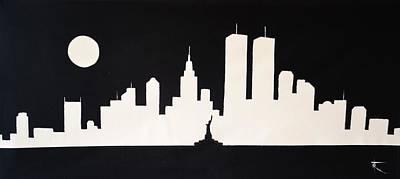 Miss Liberty Saluting The Twin Towers Original by Thomas Kolendra