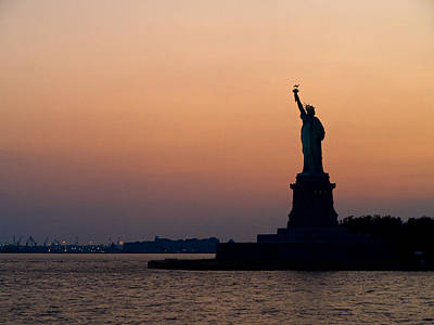 Photograph - Miss Liberty Stands Guard by Cornelis Verwaal