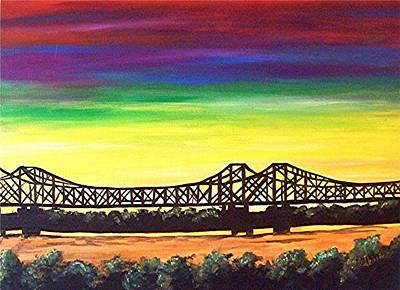 Firey Sunset Painting - Miss -  Lou Bridge  by Loraine Griffin