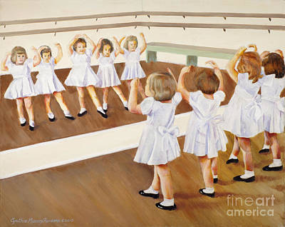 Painting - Miss Lum's Ballet Class by Cynthia Parsons