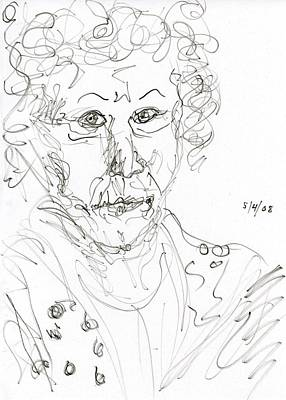 Abstract Expressionism Drawing - Miss Marple Sketch II by Rachel Scott