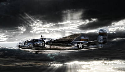 B-25 Digital Art - Miss Mitchell by Peter Chilelli