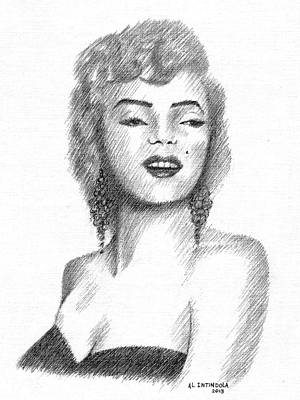 Drawing - Miss Monroe by Al Intindola