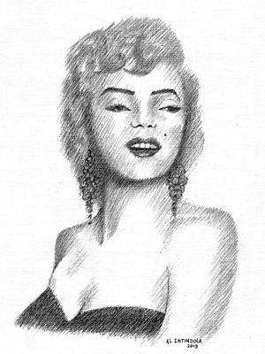 Drawing - Miss Monroe by Al Intindola