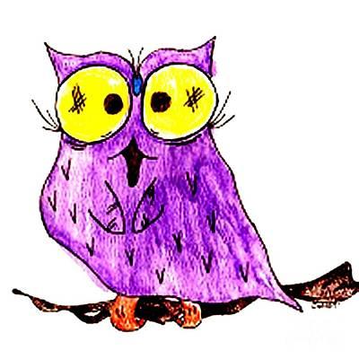Miss Owl Art Print by Donna Daugherty